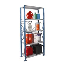 H-Post Shelving High Capacity Open Type Starter Unit with 5 Shelves