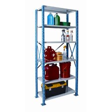 "H-Post Shelving 87"" High Capacity Open Type Starter Unit with 6 Shelves"