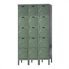 Premium Locker 5 Tier 3 Wide (Knock-Down)