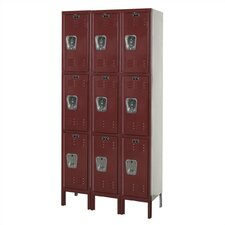 <strong>Hallowell</strong> Premium Stock Lockers Triple Tier 3 Section Locker (Unassembled)