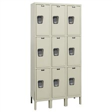 Maintenance-Free Quiet Stock Lockers - Triple Tier - 3 Sections (Assembled)