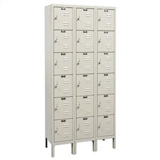 Rust Resistant Lockers - Six Tier - 3 Sections (Assembled)