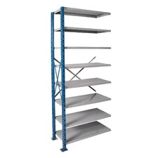 H-Post High Capacity Shelving 8 Adjustable Shelves Add-on Unit Open Style with Sway Braces