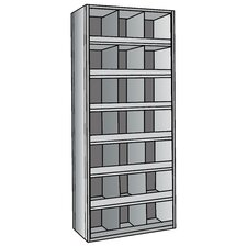 "Hi-Tech Metal Bins Shelving with 3"" Front Bins"