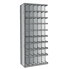 "Hi-Tech Metal Bin Shelving Add-on Unit (48) 6"" W x 9"" H, (6) 6"" W x 12"" H Bins"