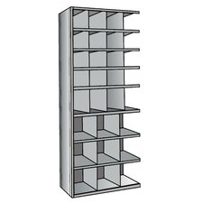 "<strong>Hallowell</strong> Hi-Tech Metal Bin Shelving Add-on Unit (16) 9"" W x 9"" H, (4) 9"" W x 12"" H, (9) 12"" W x 12"" H Bins"