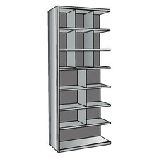 "Hi-Tech Metal Bin Shelving Add-on Unit (9) 12"" W x 12"" H, (6) 18"" W x 12"" H, (1) 36"" W x 12"" H Bins"