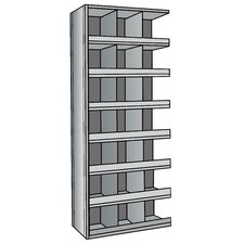 "Hi-Tech Metal Bin Shelving Add-on Unit (21) 12"" W x 12"" H Bins with 3"" Bin Fronts"