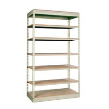 "Rivetwell Single Rivet Boltless 84"" H 6 Shelf Shelving Unit Add-on"