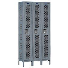 Heavy-Duty Ventilated 3-Wide Single Tier Locker (Unassembled) (Quick Ship)
