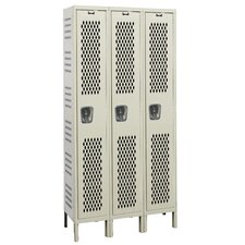 Heavy-Duty Ventilated 3-Wide Single Tier Locker (Unassembled)