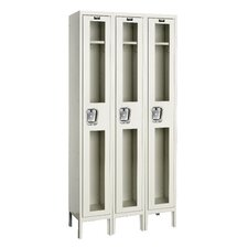 Safety-View Locker Single Tier 3 Wide (Knock-Down) (Quick Ship)