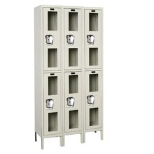 Safety-View Locker Double Tier 3 Wide (Knock-Down) (Quick Ship)