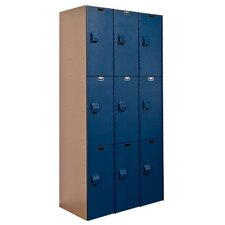 AquaMax 3 Tier 3 Wide Contemporary Locker