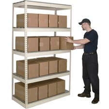 <strong>Hallowell</strong> Rivetwell Shelving Double Rivet Boltless Type Add-On Unit with 5 Levels