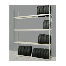 "Rivetwell Tire Storage 120"" H 4 Shelf Shelving Unit Starter"
