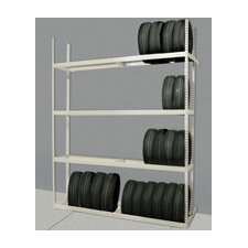 "Rivetwell Tire Storage 144"" H 6 Shelf Shelving Unit Starter"