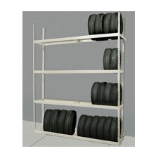 Rivetwell Shelving Tire Storage Add-On Unit with 6 Levels