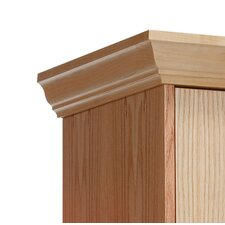 All-Wood Club Locker Crown Molding End