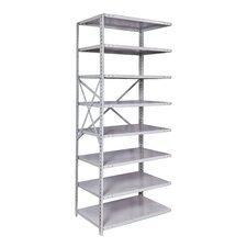 "MedSafe Antimicrobial Knock-Down Hi-Tech 87"" H 7 Shelf Shelving Unit Starter"