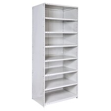 "MedSafe Antimicrobial Knock-Down Hi-Tech 87"" H 8 Shelf Shelving Unit Starter"