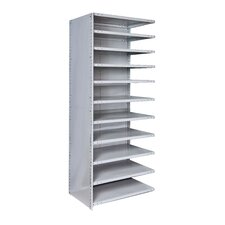 "MedSafe Antimicrobial Knock-Down Hi-Tech 87"" H 11 Shelf Shelving Unit Starter"