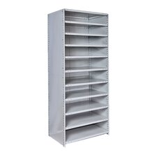"MedSafe Antimicrobial Hi-Tech 87"" H 10 Shelf Shelving Unit Starter"
