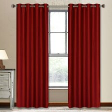 <strong>LJ Home</strong> Vegas Faux-Silk Grommet Window Panel Set (Set of 2)