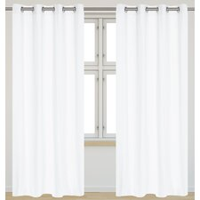 Karma Faux Cotton Grommet Curtain Panel (Set of 2)