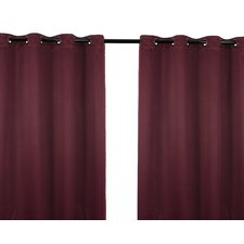 Luxura Room Darkening Grommet Energy Efficient Drape Panel Pair