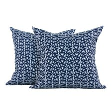 <strong>LJ Home</strong> Chevron Polyester Cushion (Set of 2)