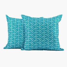 Chevron Polyester Cushion (Set of 2)