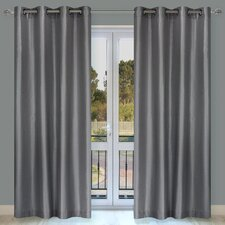 Silkana Grommet Curtain Panel (Set of 2)