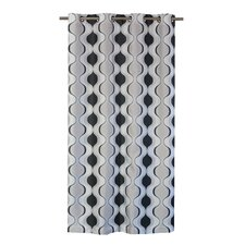 Zen Hourglass Eyelet Curtain Panel (Set of 2)