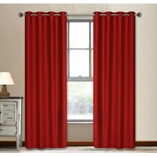 Vegas Shimmering Grommet Window Curtain Panel Pair
