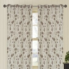 Marigold Floral Jacquard Grommet Window Panel Pair (Set of 2)