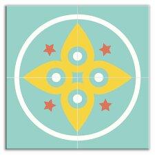 "Organic Origins 12"" x 12"" Satin Decorative Tile Quad in Morning Star"
