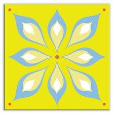 "Earth Quads 12"" x 12"" Satin Decorative Tile Quad in Mod Flair Green"