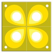 "Earth Quads 12"" x 12"" Glossy Decorative Tile Quad in Mod Flod Green"