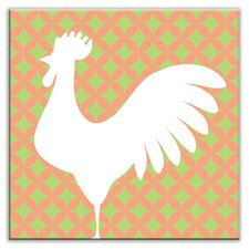 "<strong>Oscar & Izzy</strong> Folksy Love 4-1/4"" x 4-1/4"" Satin Decorative Tile in Doodle-Do Pink Left"
