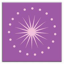 "Folksy Love 4-1/4"" x 4-1/4"" Satin Decorative Tile in June Light Purple"