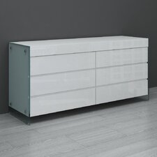 <strong>Casabianca Furniture</strong> II Vetro 6 Drawer Dresser