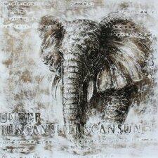 Elephant Framed Painting Print