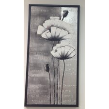 Standing Flowers Framed Graphic Art