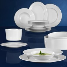No Limits 16 Piece Dinnerware Set in White