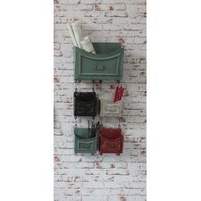 5 Piece Wapping Hanging Storage Bin Set