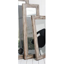 Stanton Rustic Timber Slim Wall Mirror