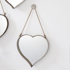 Metal Heart Mirror (Set of 2)