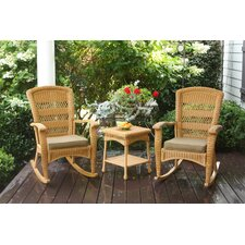 <strong>Tortuga Outdoor</strong> Portside 3 Piece Plantation Rocker Set (Set of 3)