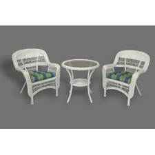 <strong>Tortuga Outdoor</strong> Portside 3 Piece Bistro Set